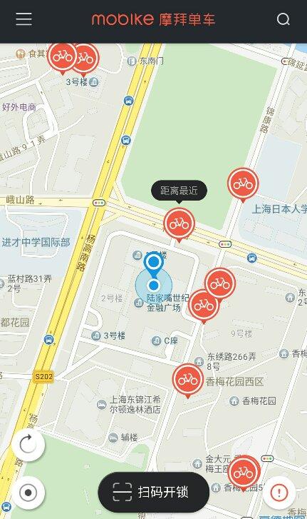 上海の自転車買う