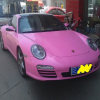 蘇州で見かけたピンクのポルシェ