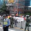 貴重映像2012年9月18日反日デモの中心部を撮って猛ダッシュで逃げ帰る